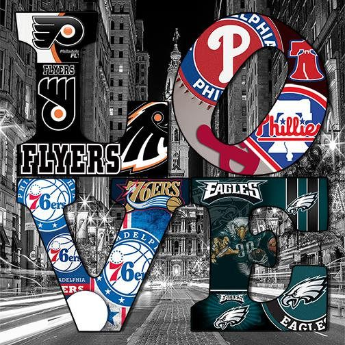 f8d4c7464f3 24x24 Original Philadelphia Sports Team Logo Prints by RobinLynnF on etsy