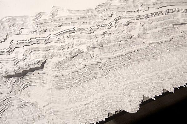 Noriko Ambe  Wave 1 (detail) 2012 Cut on paper