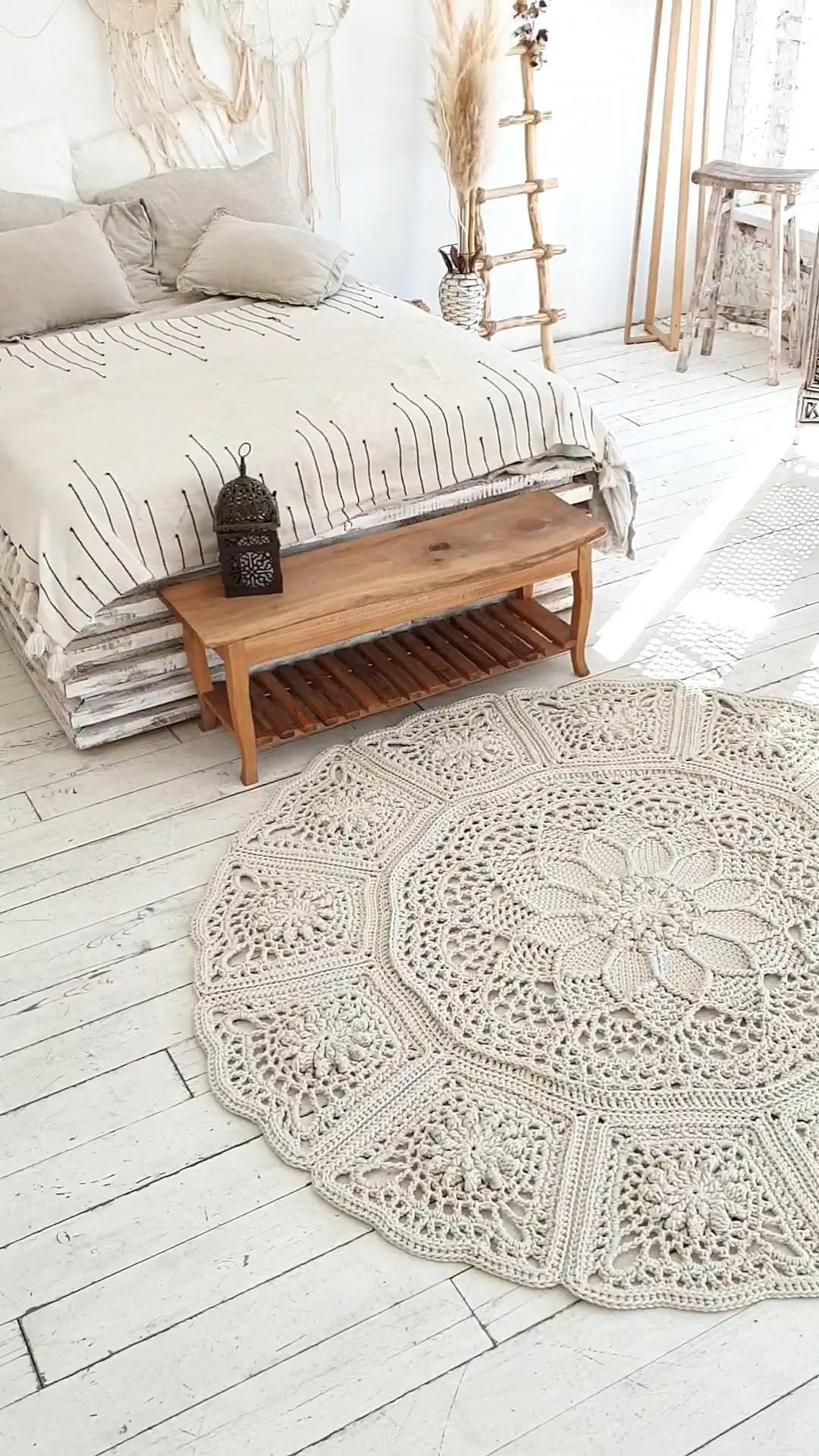 Crochet rug pattern (video