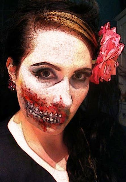Zombie face paint anyone?
