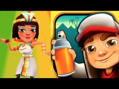 Jasmine And Croc Board High Score Subway Surfers Cairo Gameplay Subway Surfers Subway Surfers Game Subway