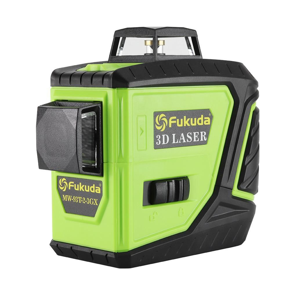 Fukuda Rotary Laser Level 360 12 Lines 3d Green Beam Laser Leveler Self Leveling Horizontal Vertical Cross Laser Line Mw 93t New Laser Levels Rotary Beams