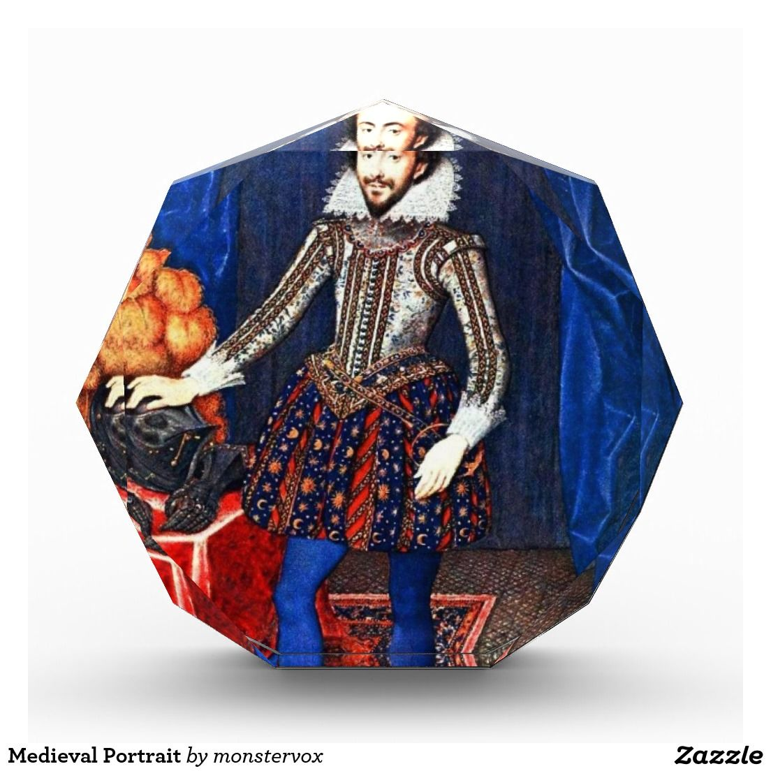 Medieval Portrait Acrylic Award #Medieval #Portrait #Historic #Vintage #England #Award