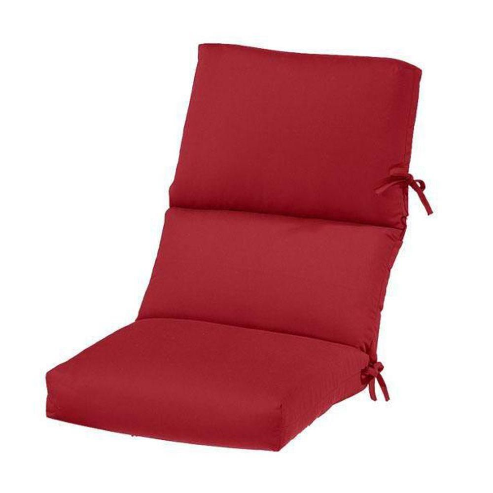 home decorators collection sunbrella jockey red outdoor dining chair cushion - Home Decorators Outdoor Cushions