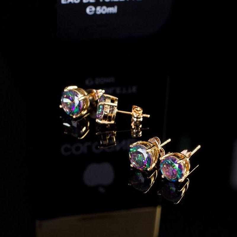 Marca Zirconia Orecchini di Lady Gold-plated AAA lusso cubic zirconia orecchini di lusso della signora gioielli all'ingrosso