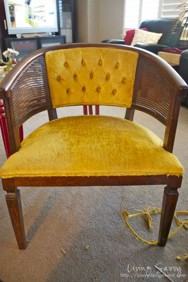 Detailed Re Upholstered Cane Barrel Chairs Turtorial...maybe I Can Do It