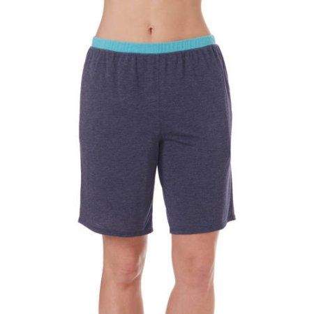 Plus Size Secret Treasures Women's and Women's Plus Solid Bermuda Sleep Short, Size: Large, Blue