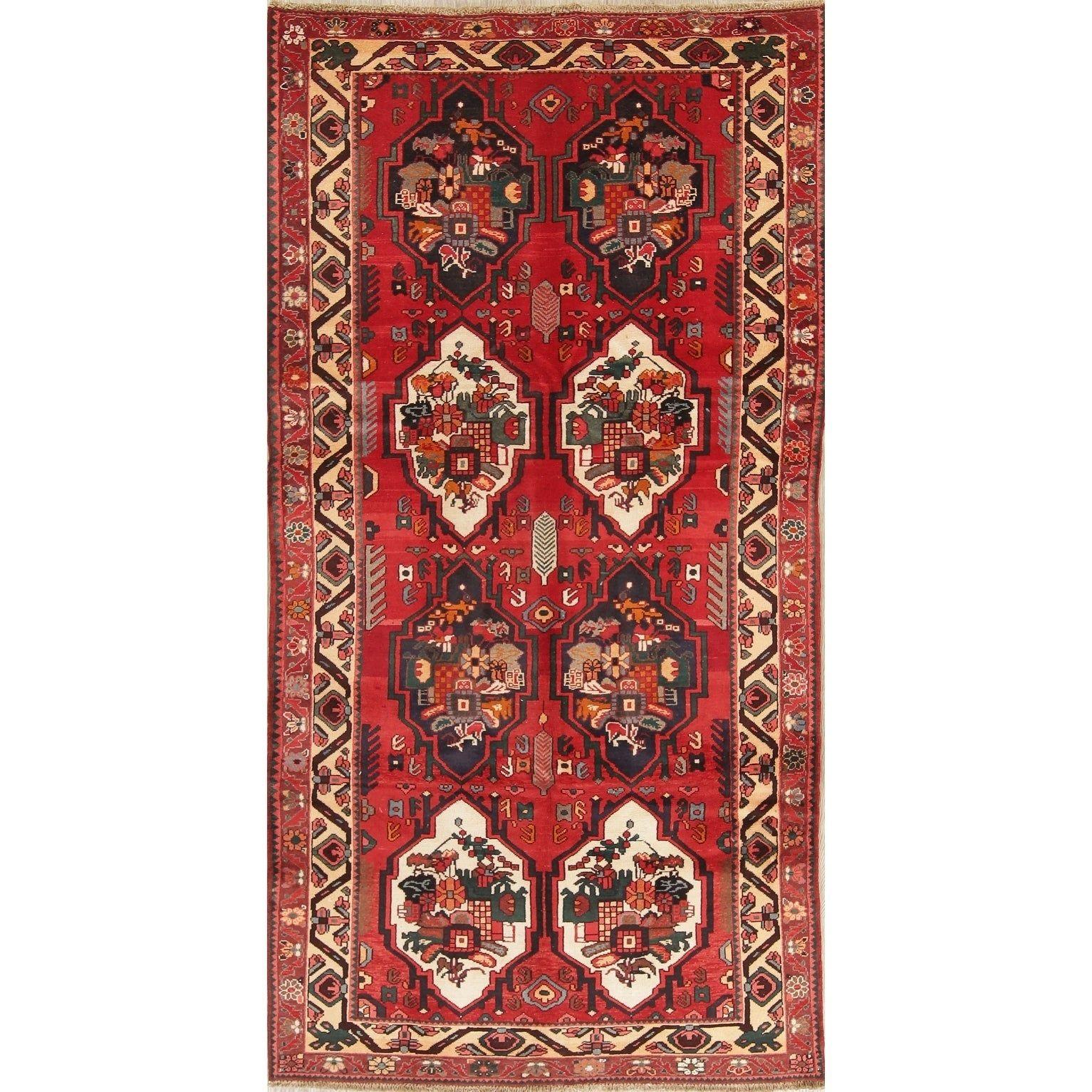 Vintage Bakhtiari Oriental Hand Knotted Wool Persian Rug 10 1 X 5 1 Runner Persian Rug Runners Oriental Runner Rug Colorful Rugs