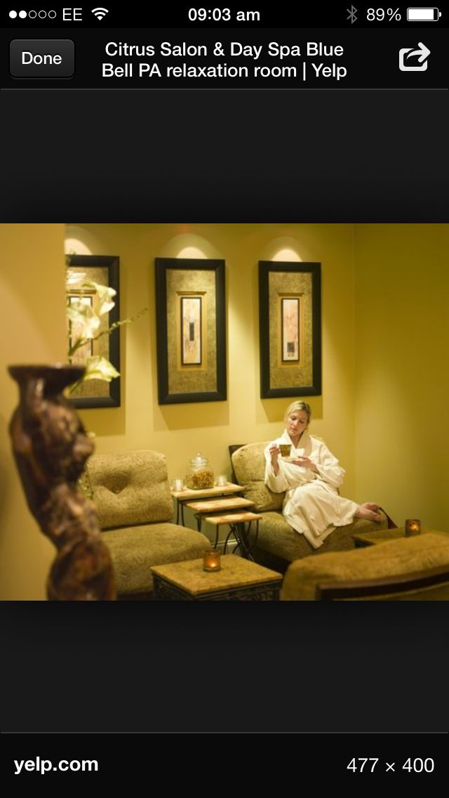 Salon relaxation room Meditation Pinterest