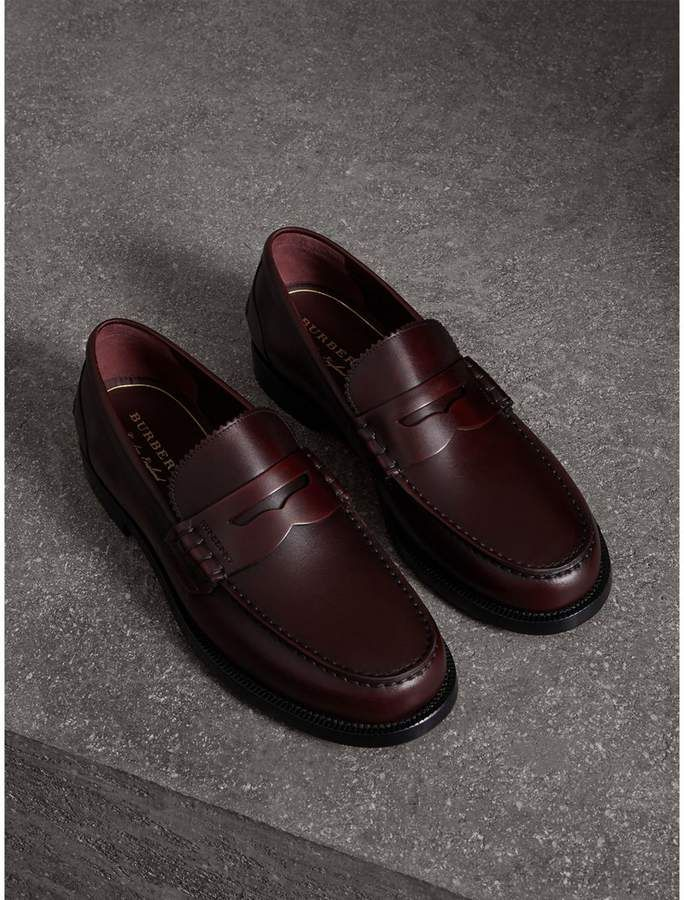 Burberry Leather Penny Loafers | Mens