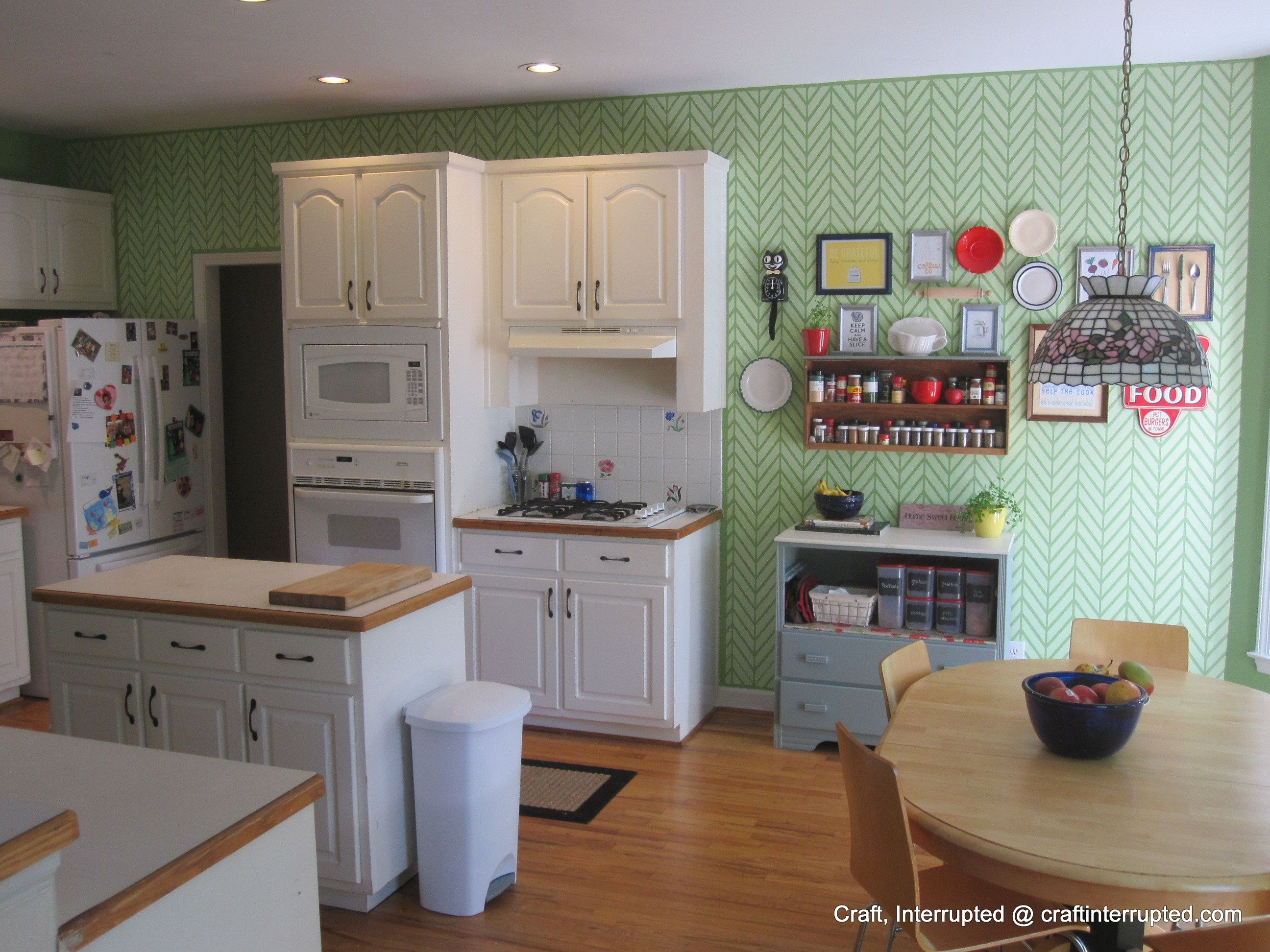 Get Ziggy With It Wall Stencil Kitchen feature wall
