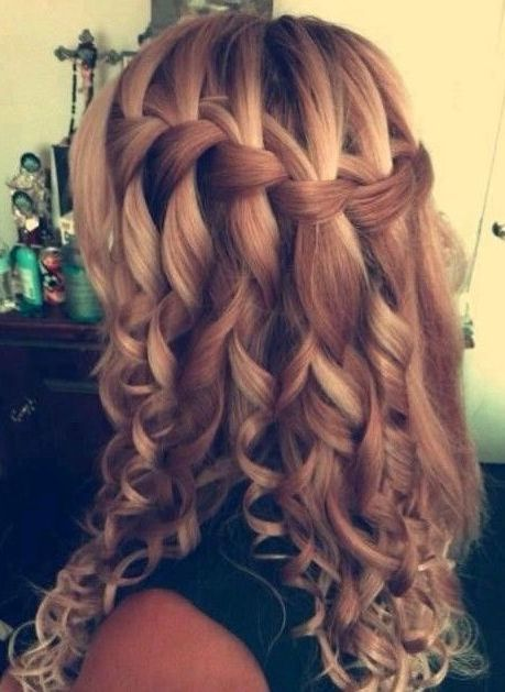 Curly Hairstyles For Prom Party Fave Hairstyles Hair Styles Braids With Curls Long Hair Styles