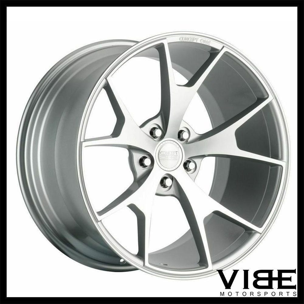 Details about 20 concept one csm5 silver concave wheels rims fits audi c7 a6