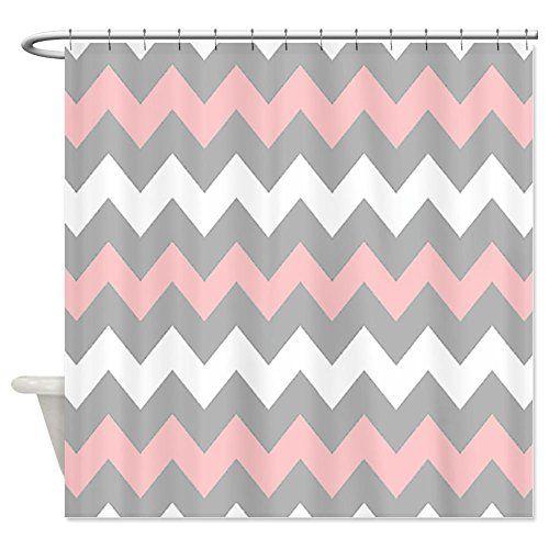 Pretty Pink Chevron Shower Curtain Designs Pink Shower Curtains