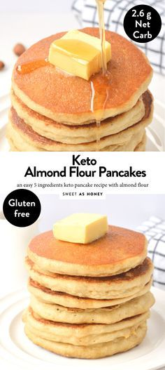 Keto Almond flour pancakes only 5 ingredients - Sweetashoney