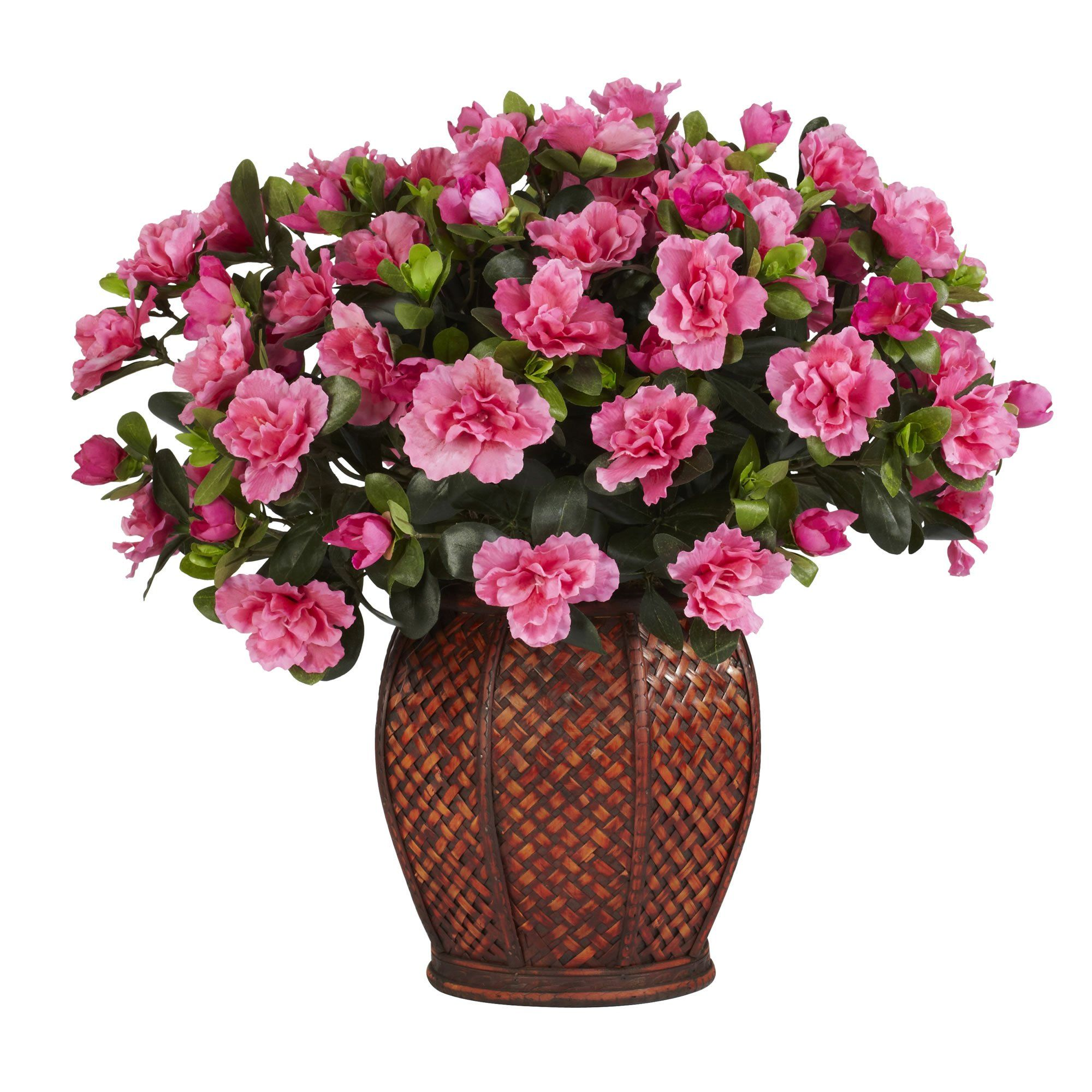 Azalea w/Vase Silk Plant Artificial flowers, Silk plants