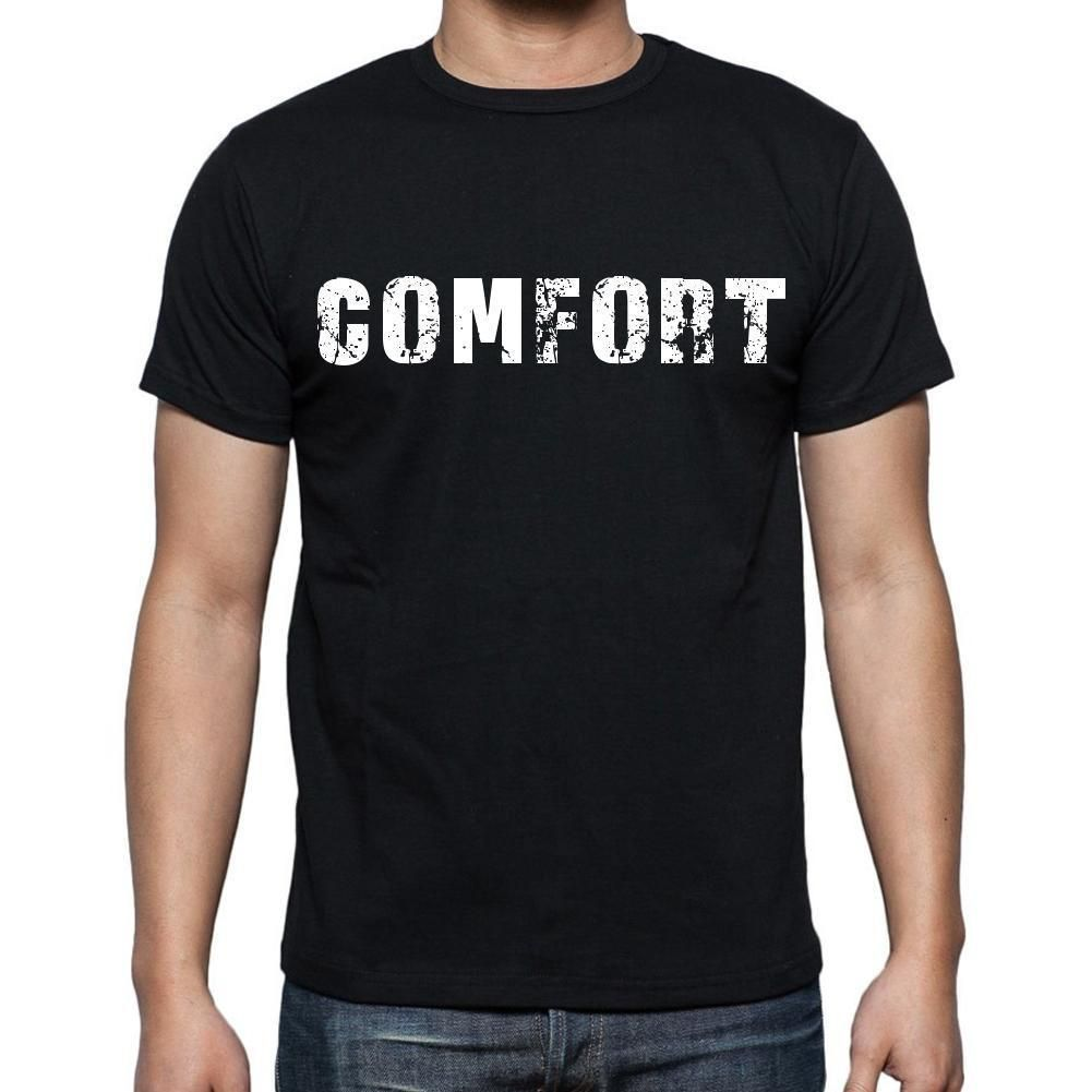 comfort Men's Short Sleeve Rounded Neck T-shirt , Black T-shirt EN
