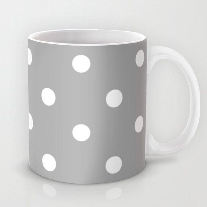 Best Gray And White Polka Dot Coffee Mug Gray With White 400 x 300