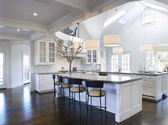 New White Kitchen perfect white kitchen walls cabinets marble countersdouglas fir