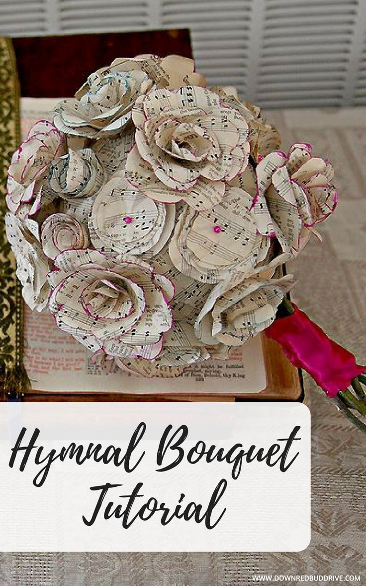 Gorgeous Handmade Bridal Bouquet Ideas Using Pages From A Hymnal