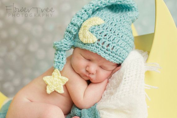 Photo of Chapeau nouveau-né lune, chapeau de lutin pour nouveau-né, nouveau-né Photo Prop, Mr Sandman chapeau, chapeau, lune et étoile chapeau, chapeau de lutin pour bébé, chapeau bébé avec étoile