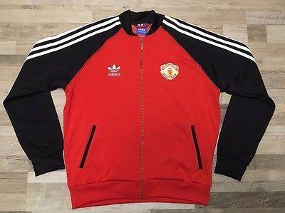 ADIDAS ORIGINALS MANCHESTER UNITED Retro Superstar Football Track Jacket  Size XL