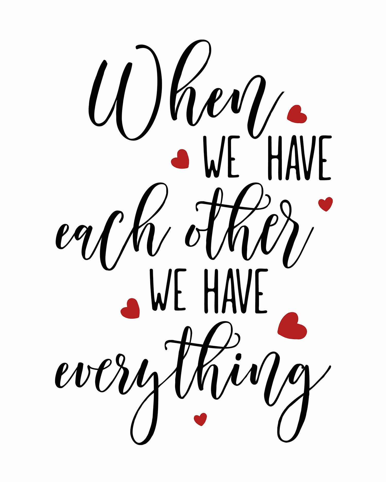 Wedding Gift, Each Other Quote, Wedding Card, Wedding Print, Wedding Sign, Wedding Printable, Red Black Print, Heart Print, Love Print -   19 wedding Quotes for cards ideas