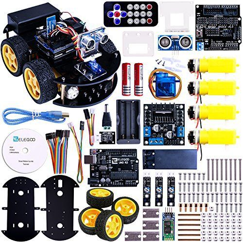 Build Your Own Smart Robot Car Electronics Kit Components Project Kits