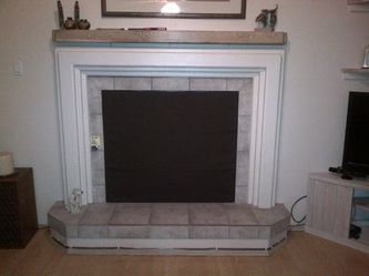 Fireplace Fashion Cover In Just Black Fireplace Cover Fireplace Freestanding Fireplace