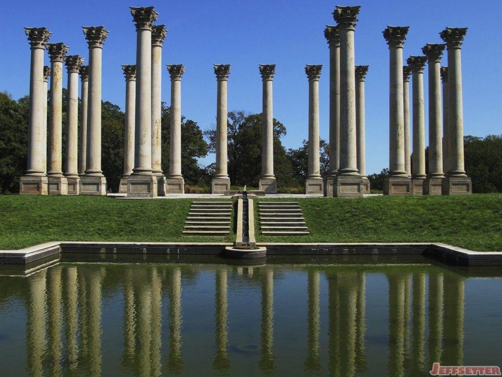 Original United States Capitol Columns At The National Arboretum