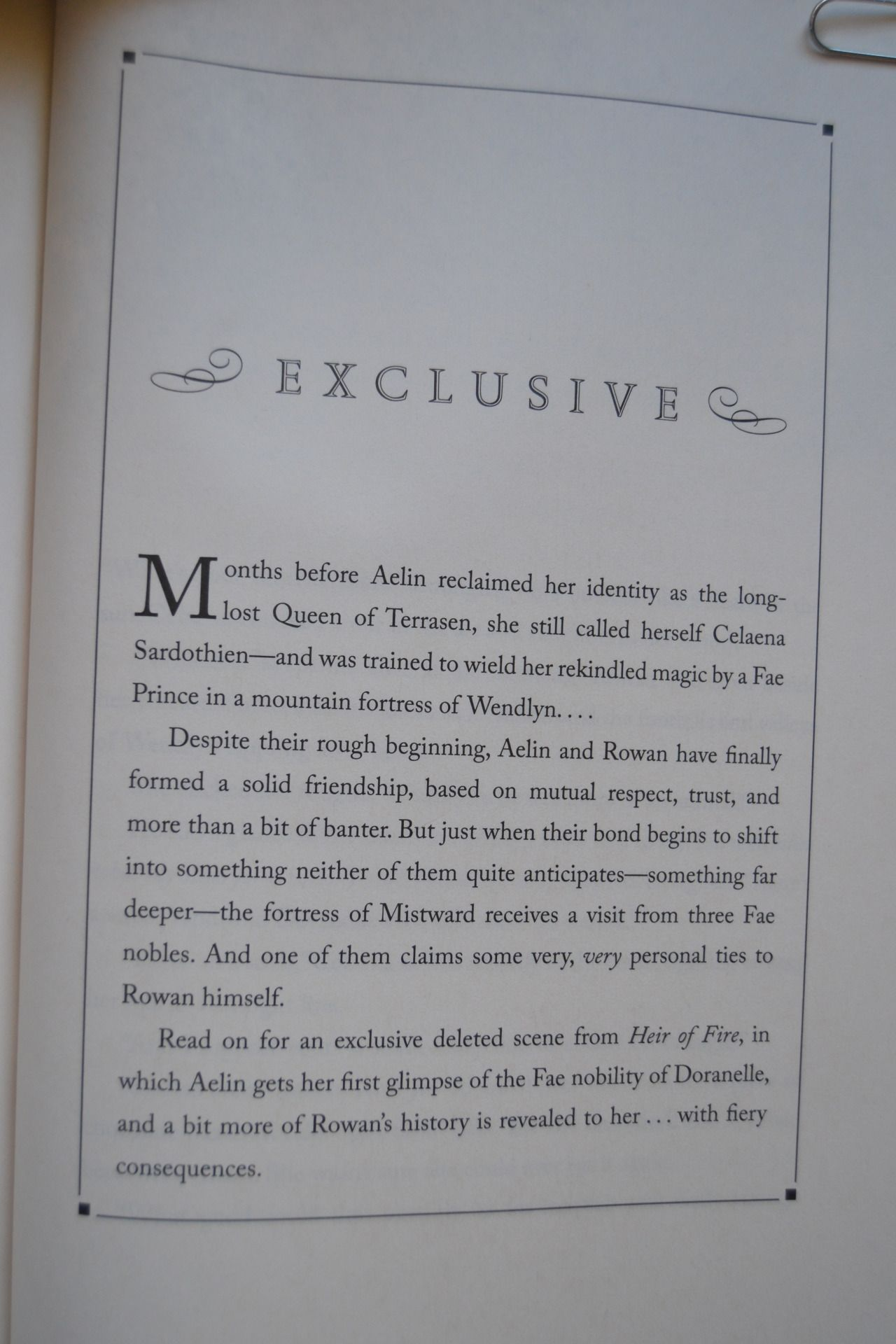 Deleted Scene In Heir Of Fire Throne Of Glass Quotes Empire Of