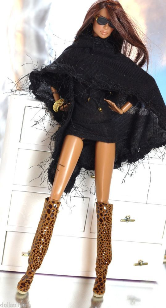 Fashion royalty black boots,FR2.
