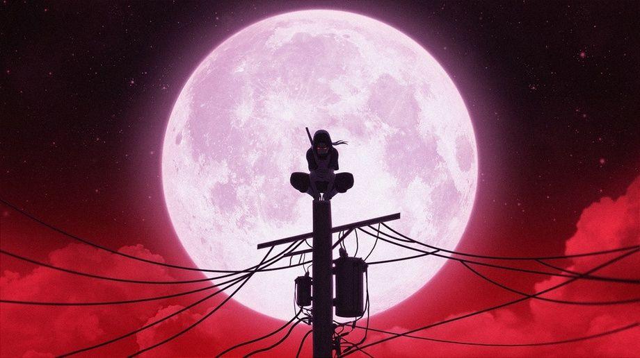 Itachi Faithful Night An Art Print By Jacob Fontes Wallpaper Naruto Shippuden Anime Wallpaper Live Naruto Painting Blood moon itachi moon wallpaper