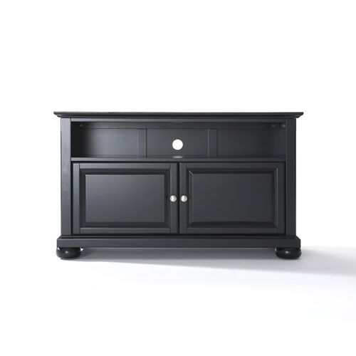 Small Tv Stand Alexandria 42 Inch Tv Stand In Black Finish Crosley Furniture Tv Cabinets Tv Stands Cabi Tv Stand 42 Inch Tv Stand Small Tv Stand