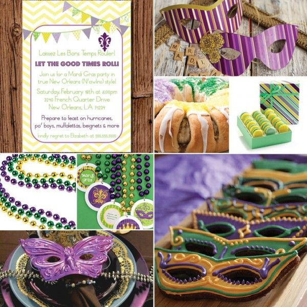 Mardi Gras Party Ideas! | Mardi Gras-Themed Parties | Pinterest
