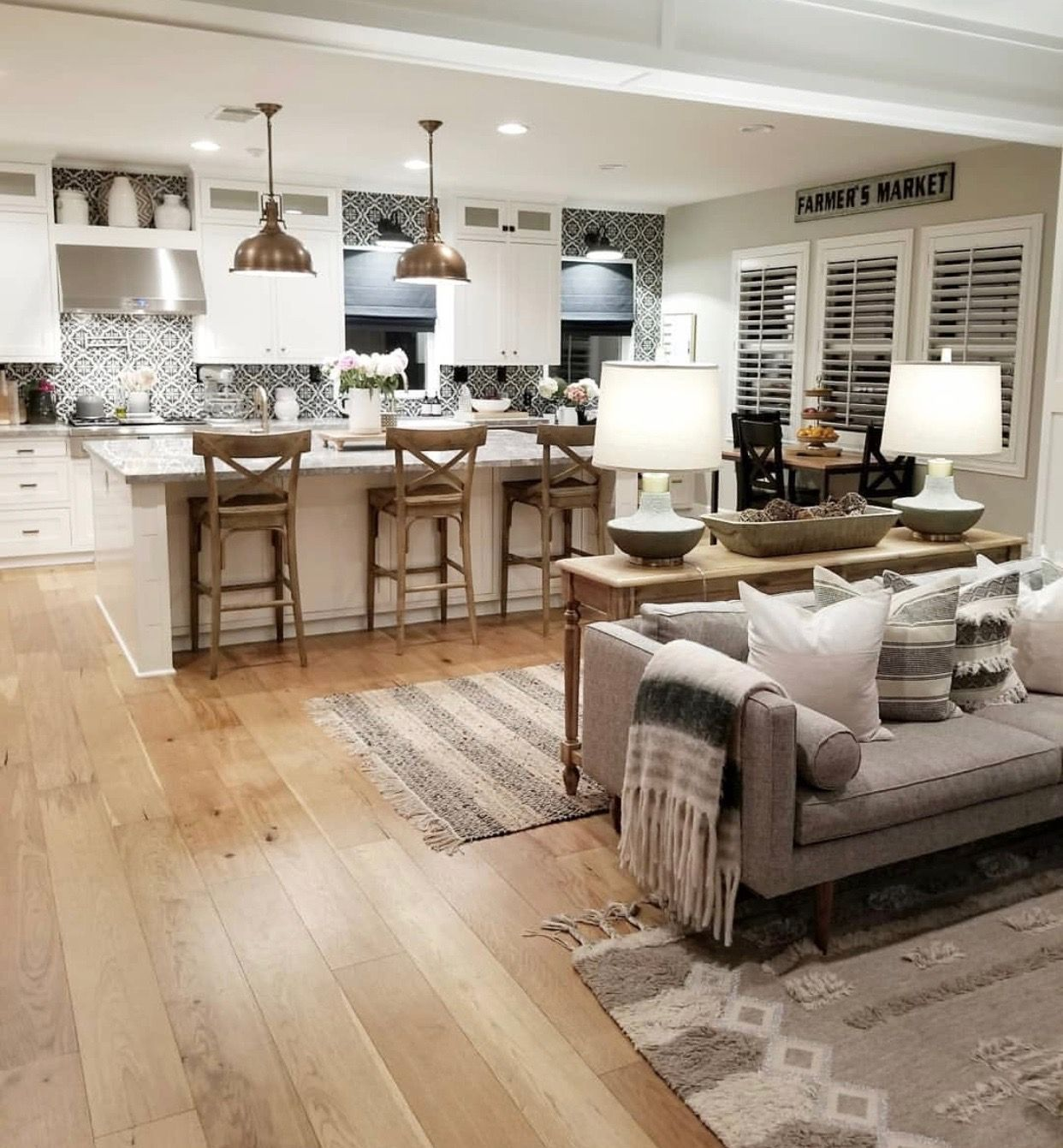 Pin By Shay Mallick On Home Design Open Concept Kitchen Living Room Open Kitchen And Living Room Living Room Kitchen