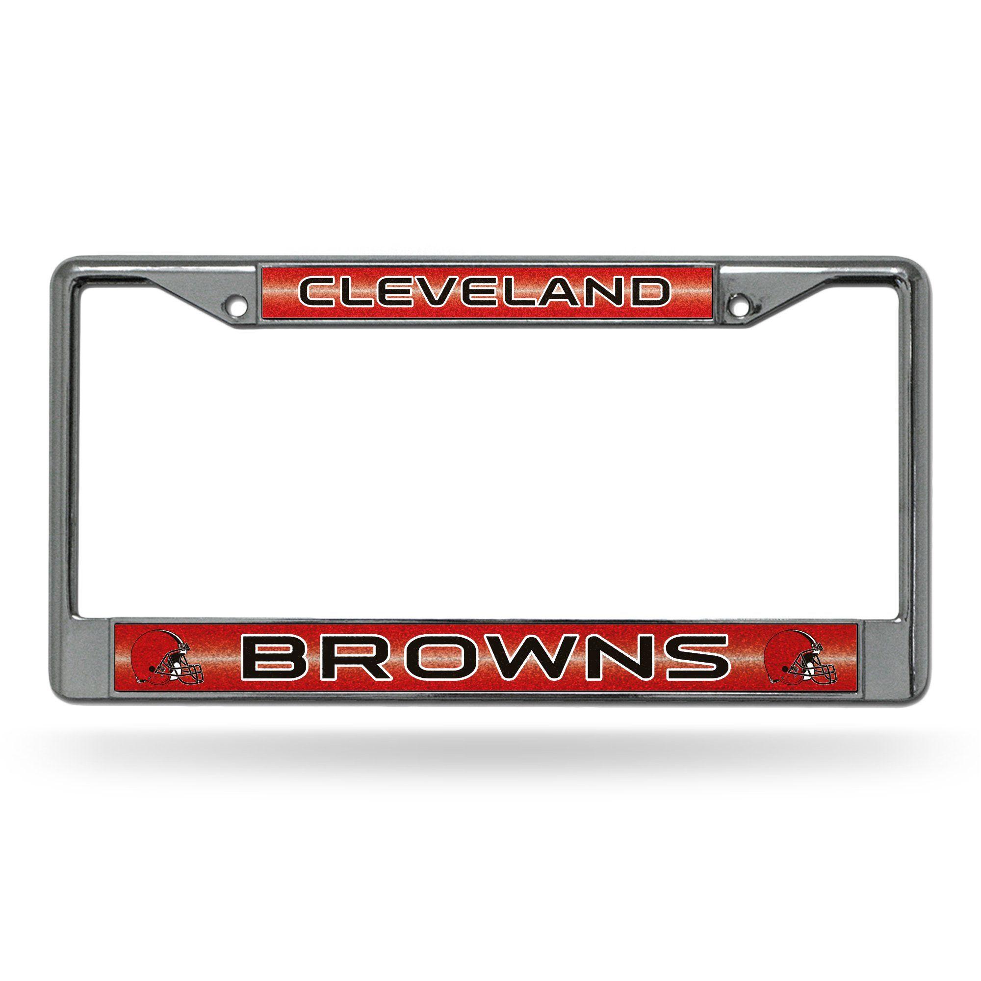 Browns Bling Chrome Frame Bling license plate frames