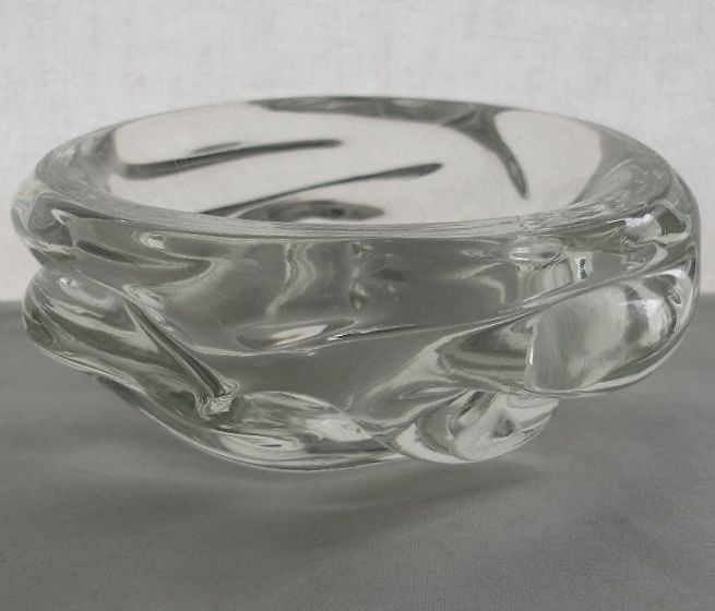GORGEOUS Elegant ARCHIMEDE SEGUSO Vintage MURANO Glass BOWL Refined CLEAR Beauty