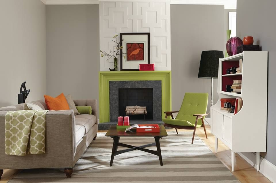 Go for a new neutral paint color such as functional gray for Accent colors for neutral rooms