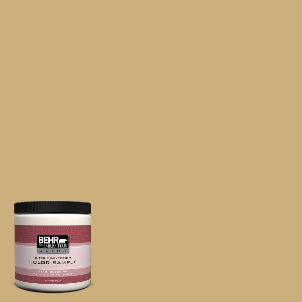 BEHR Premium Plus Ultra 8 oz. #PPU6-16 Cup of Tea Interior/Exterior Paint Sample