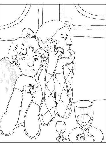 Colorea un Picasso! | Dibujos para colorear | Pinterest | Colorear ...