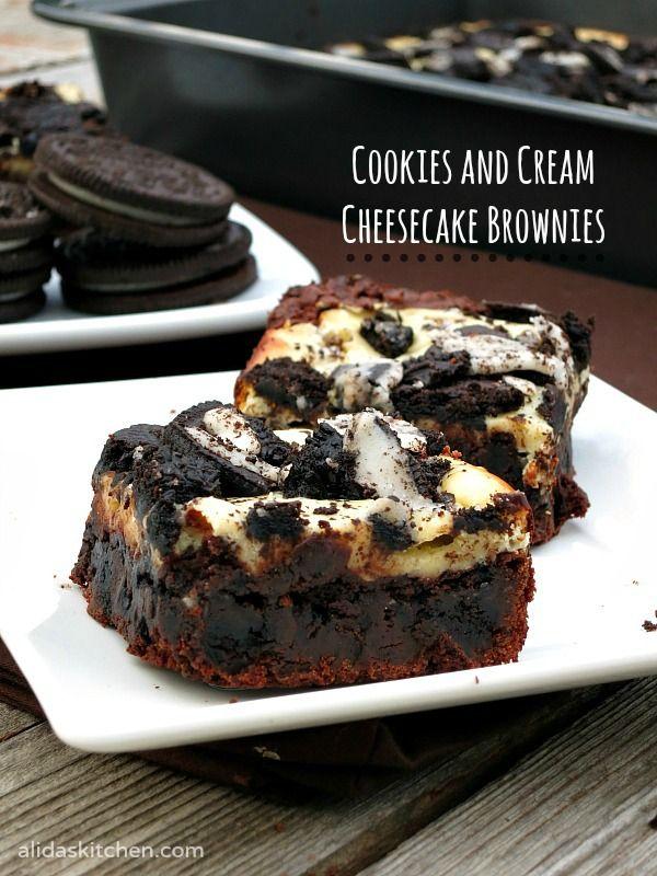 Cookies And Cream Cheesecake Brownies Recipe Cookies And Cream Cheesecake Cheesecake Brownies Brownie Recipes