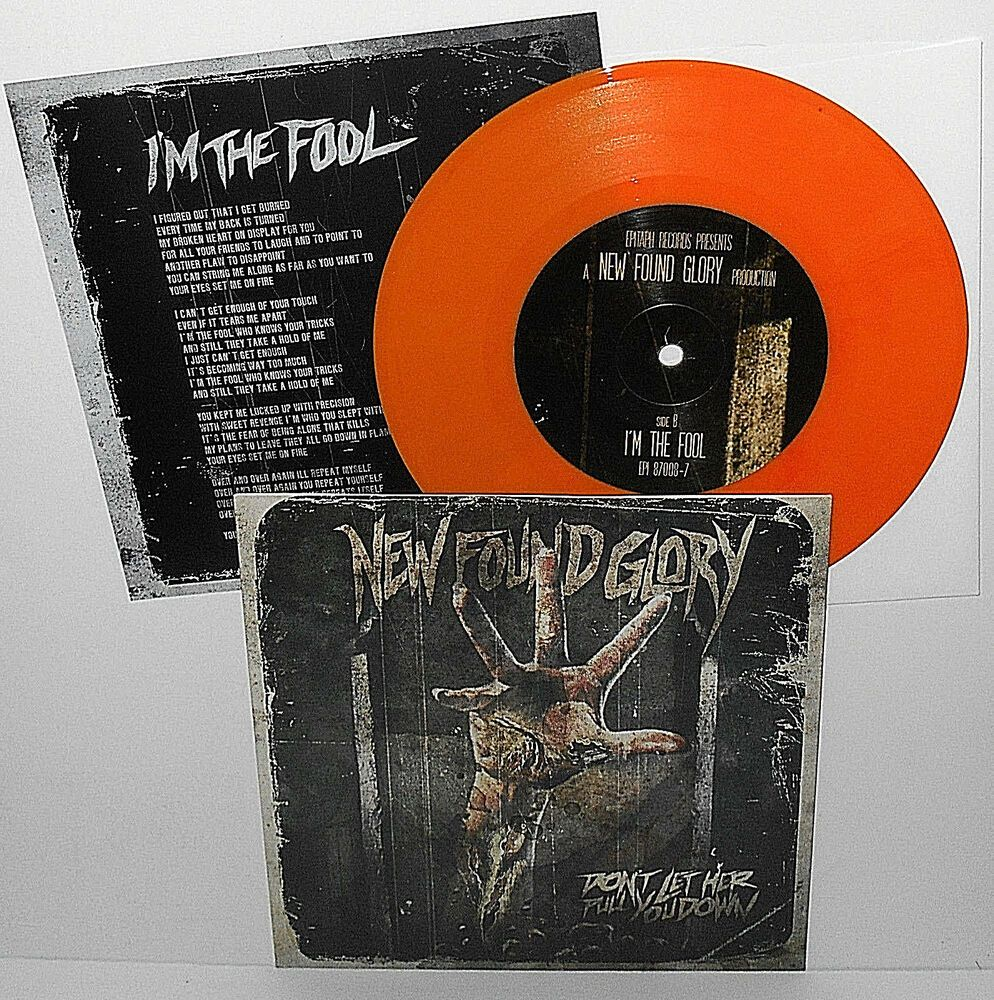 New Found Glory Don T Let Her Pull You Down 7 Record Orange Vinyl Punkpunknewwave New Found Glory Records Vinyl