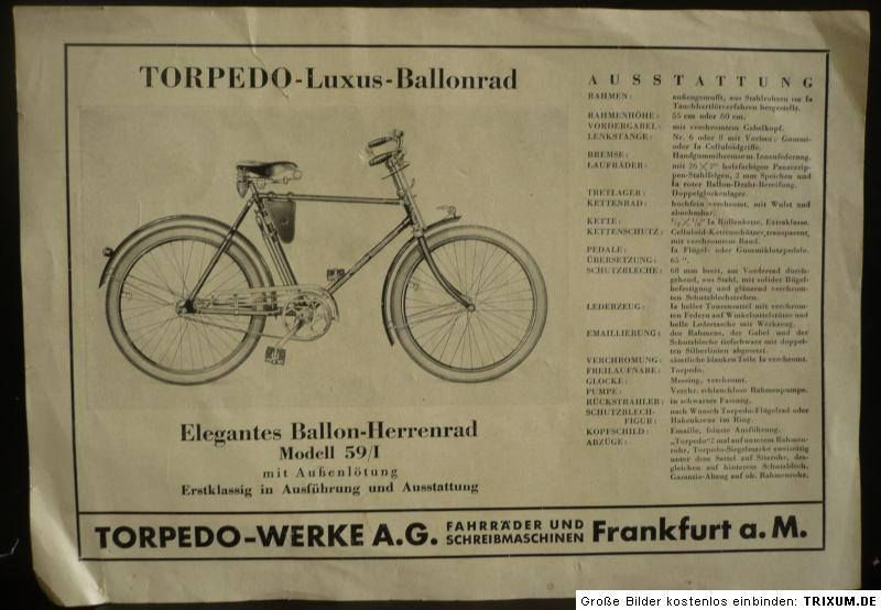 Torpedo Luxus Ballonrad