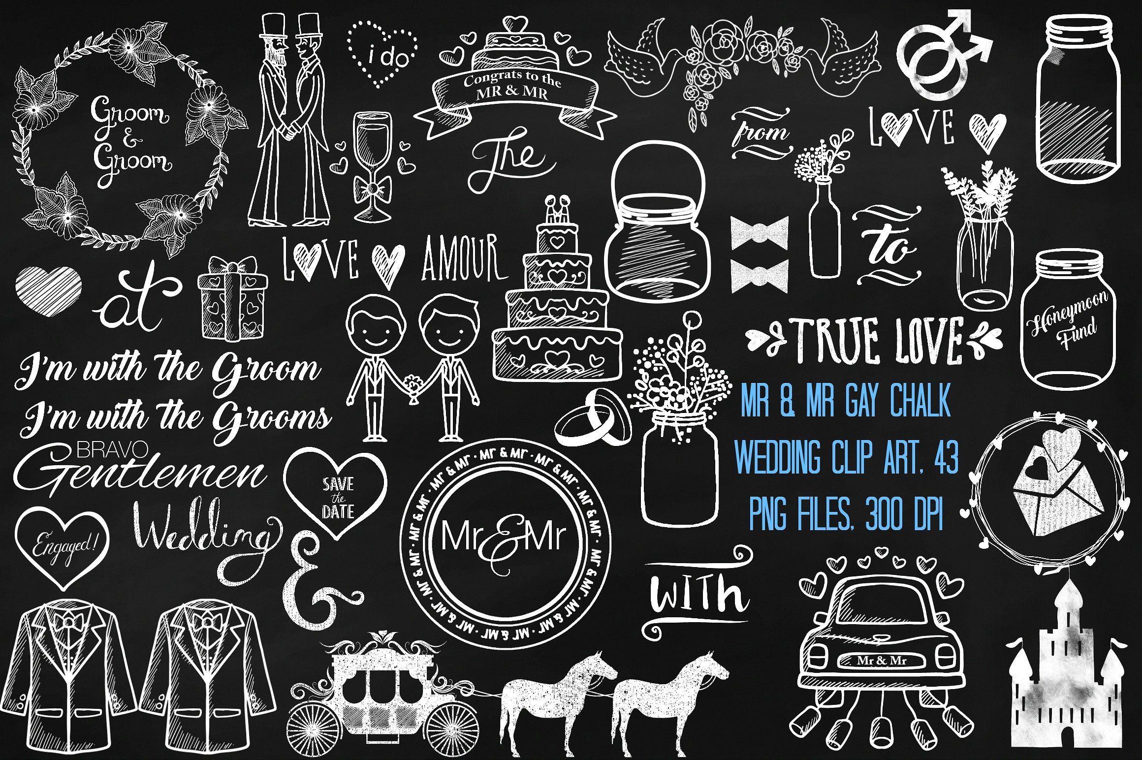hight resolution of mr mr gay chalk wedding clip art by frankiesdaughtersdesign on creativemarket pizarra edredones