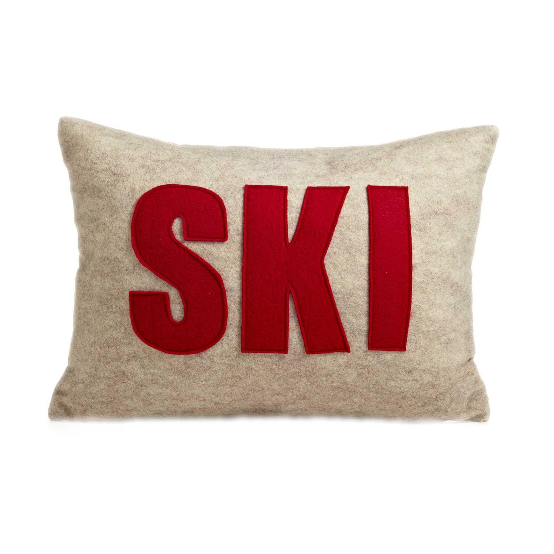 Ski Pillow Cute Think I Can Make This With Images Ski House Decor Ski Decor Ski Lodge Decor