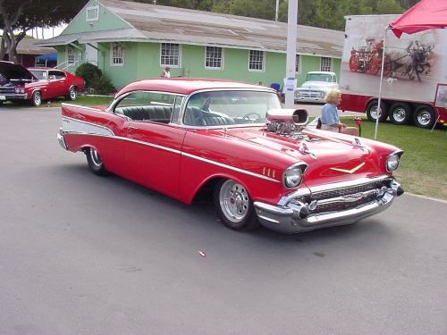 Images Of Blown Motor Muscle Cars Red Chevy With A Blower