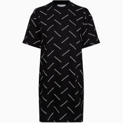 Calvin Klein T-Shirt-Kleid mit durchgehendem Logo L Calvin KleinCalvin Klein #kleidersale