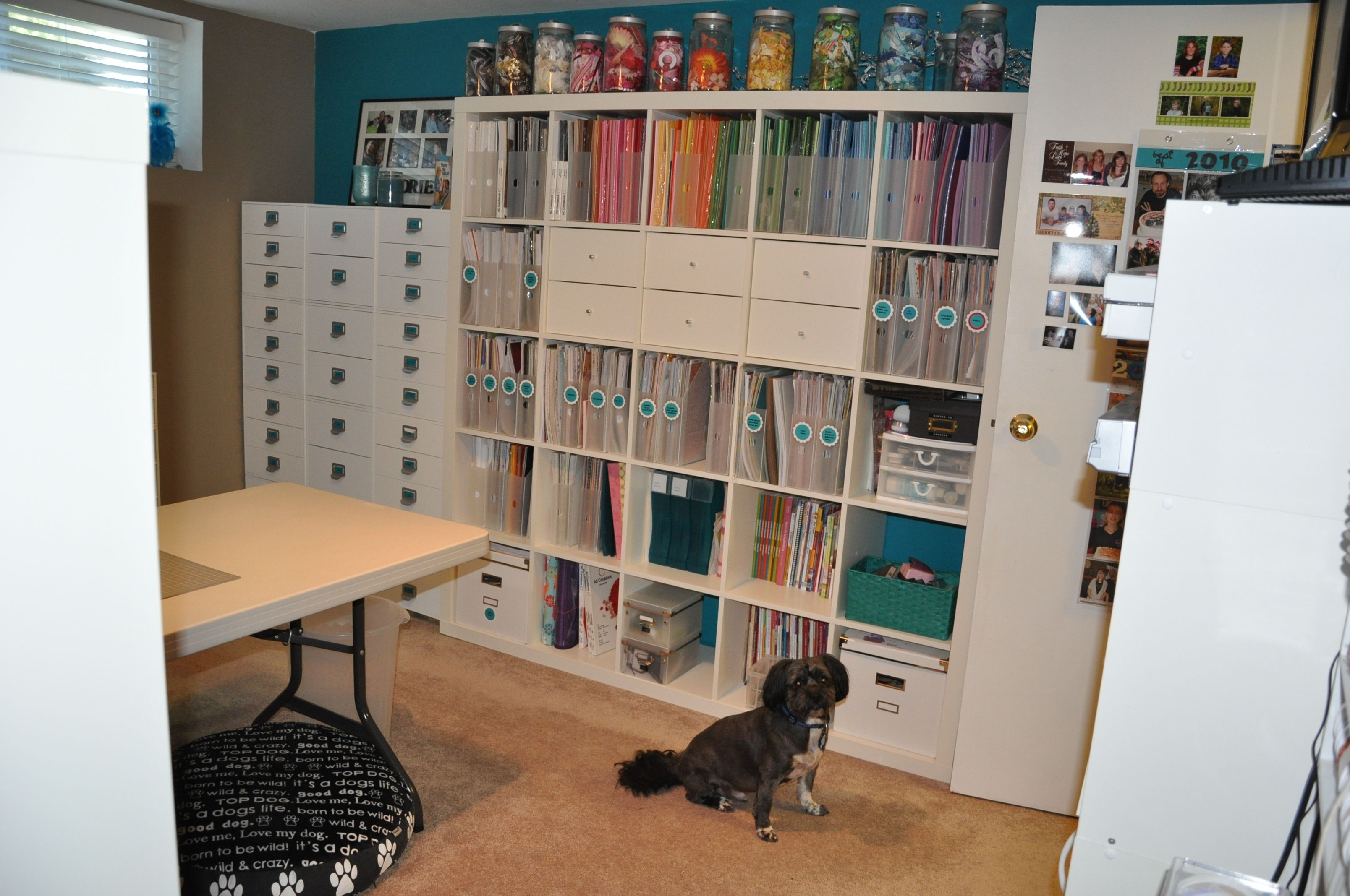 Craft Room Idea Vertical Scrapbook Paper Storage