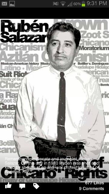 Ruben Salazar First Mexicanamerican Staff Reporter For The Los Angeles Times My Heritage American History Aztec Culture
